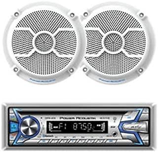 Power Acoustik MCD1‐265 1‐DIN CD/MP3, AM/FM, USB, AUX & BT with Pair of 6.5