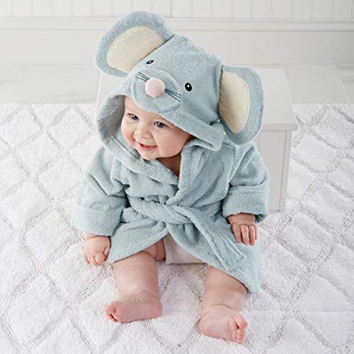 IAMZHL Animal à Capuche modèle ing Peignoir bébé/Dessin animé bébé Spa Serviette/Personnage Enfants Peignoir/bébé Serviettes de Plage -Mouse