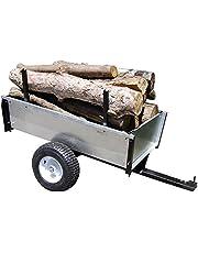 Turfmaster Remolque basculante en acero galvanizado especial madera - Capacidad máxima 450kg