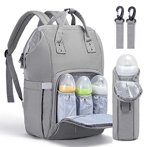 Fresion Diaper Bag Backpack for Mom - Waterproof Nappy Bag Insulated Pocket