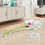 PPuujia Fernbedienung Roboter Spielzeug Fernbedienung Chamäleon Haustier Intelligentes Spielzeug Roboter für Kinder Kinder Geburtstagsgeschenk Lustiges Spielzeug RC Tiere