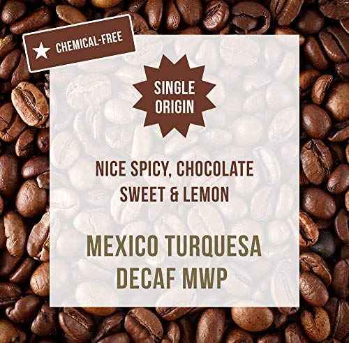Mexico Turquesa Decaf 1KG - Entkoffeiniert ohne Chemikalien - Bergwasser-Prozess (MWP) - Single Origin Kaffeebohnen - Coffee World