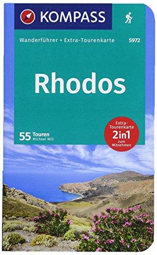 KOMPASS Wanderführer Rhodos: Wanderführer mit Extra-Tourenkarte 1:55000, 55 Touren, GPX-Daten zum Download.