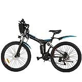 BIKFUN 26 Zoll Faltbares E-Bike Pedelec, Ebike Klappbar 36V 8Ah Lithium-Akku 250W Motor Elektrofahrrad, 21-Gang Elektrisches Fahrrad