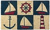 Kempf Printed Coco Coir Doormat Nautical Design