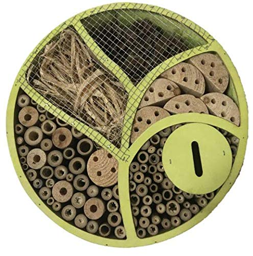 Heritage Fix On Round Wooden Insect Hotel Tree 4 Section Nest Home Bee Keeping Bug Garden Ladybird Box Hotel