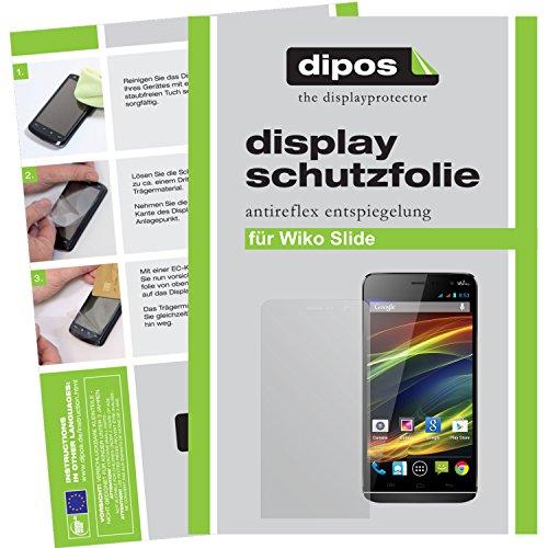 dipos I 6x Schutzfolie matt passend für Wiko Slide Folie Bildschirmschutzfolie