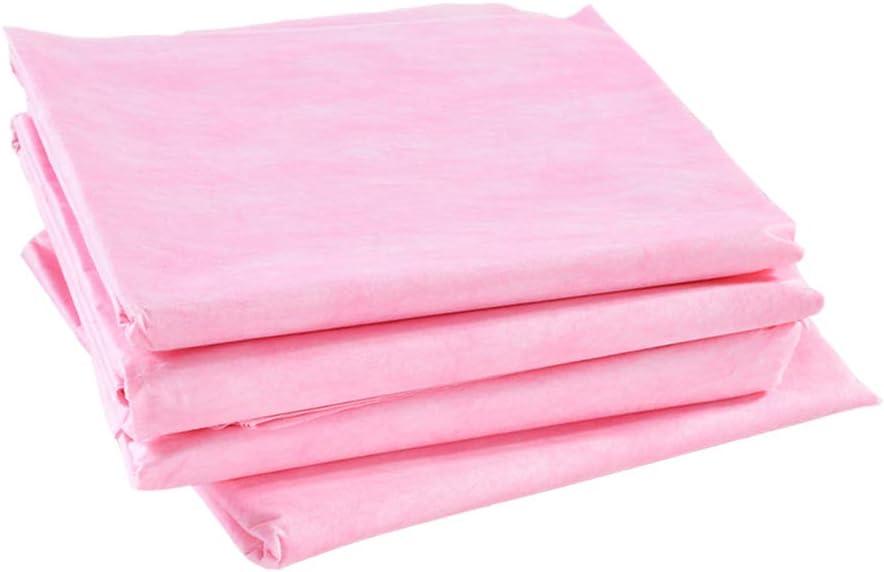 F Fityle 40pcs Blanc Et Rose Imperméable Feuille De Table De Massage Jetable - #3 #1