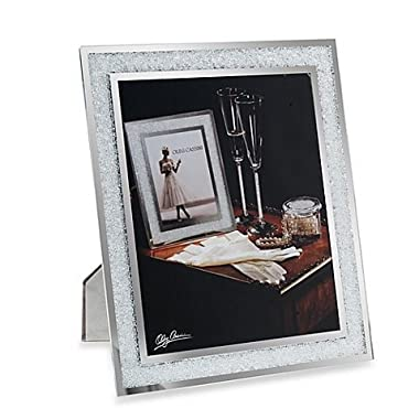 Oleg Cassini Crystal Diamond Picture Frame, 8x10-Inch