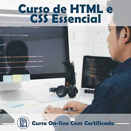 Curso Online em videoaula de HTML e CSS Essencial com Certificado + 2 brindes
