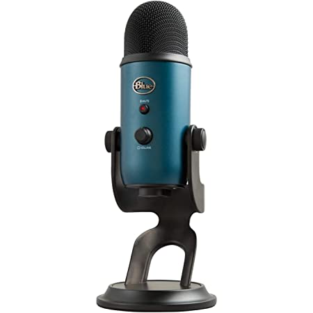 Blue Yeti USB Mic for Recording & Streaming on PC and Mac, 3 Condenser Capsules, 4 Pickup Patterns, Headphone Output and Volume Control, Mic Gain Control, Adjustable Stand, Plug & Play - Black & Teal