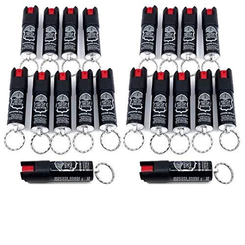 POLICE MAGNUM Mini Pepper Spray Self Defense- Max Heat Strength Security- 1 Pack 1/2oz Twist Lock Keyring (20 Pack 1/2oz Twist Lock Keyrings)