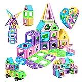Lumineszierend Magnetische Bausteine 114Pcs Magnetic Bauklötze Baukasten Kinder   3D Macaron Lernen & Entwicklung Bausteine Spielzeug   Perfekt für den Einsatz zu Hause, in Schulen, Kindertagesstätten
