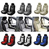Protech Car Seat Cover Compatible for Ford Transit Connect C-Max Expedition 2021 2020 - 2009, PU Leather Covers Pair Set (Airbag Compatible) (257 -2 Front) (Grey)