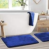 Memory Foam Bathrug 2 Pack Set - Royal Blue - Bath Mat and Shower Rug Large 20' x 32' Inches, Non...