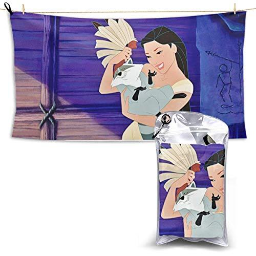 TUCBOA Beach Towel,Toallas De Playa para Adultos De Secado Rápido Pocahontas, Toallas De Baño Absorbentes De Agua para Mujer para Decoración del Hogar,70x140cm