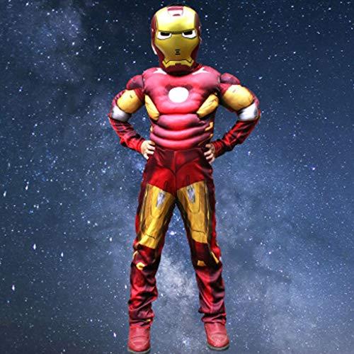 Attrezzature Fun Marvel Avengers Assemble Iron Man Costume da Bambino Classico (Tre Colori, Tre Misure) (Color : A, Size : L)