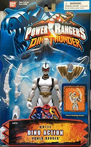BANDAI Power Rangers Heroes Dino Thunder Series 16 Action Figure White Ranger