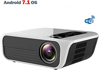 Full HD 1920 * 1080P Portable Projector, Android 7.1 (2G + 16G), Wi-Fi Simultaneous Display, Support 4K Home Theater Video...