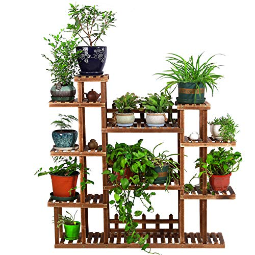 of fiskars indoor plants dec 2021 theres one clear winner PENGKE Multi Layer Wood Plant Stand Indoor Outdoor,9 Tier 18 Potted Flower Pot Holder,Plant Display Shelving for Patio Garden Corner Balcony Living with 3 Free Gardening Tools