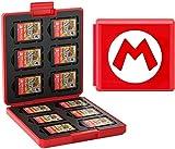 FFIT - Estuche para Tarjetas de Juego para Nintendo Switch, Soporte de Cartucho Protector a Prueba de Golpes, Estuche de Almacenamiento con 12 Ranuras