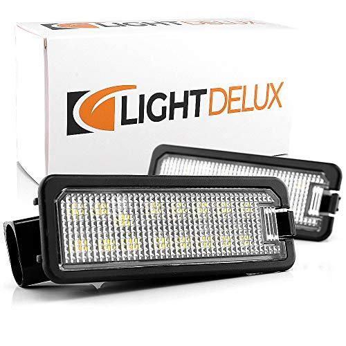 LIGHTDELUX Ersatz für LED Kennzeichenbeleuchtung Nummernschildbeleuchtung ohne Fehlermeldung mit E-Prüfzeichen V-030636
