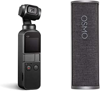 """DJI Osmo Pocket - Handheld 3-Axis Gimbal Stabilizer with Integrated Camera 12 MP 1/2.3"""" CMOS 4K Video with Charging Case B..."""