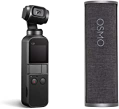 """DJI Osmo Pocket - Handheld 3-Axis Gimbal Stabilizer with Integrated Camera 12 MP 1/2.3"""" CMOS 4K Video with Charging Case Bundle"""