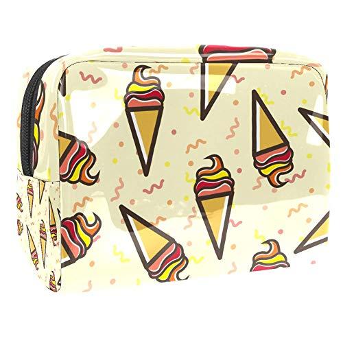 Maquillage Cosmetic Case Multifunction Travel Toiletry Storage Bag Organizer for Women - Cartoon Ice Cream Pattern