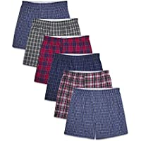 6-Pack Fruit of the Loom Mens Tag-Free Boxer Shorts