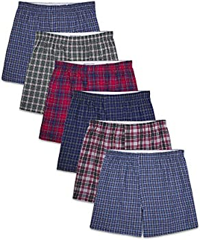 6-Pack Fruit of the Loom Men's Tag-Free Boxer Shorts