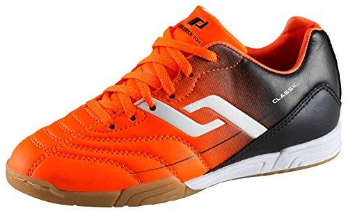 Pro Touch Unisex-Kinder Classic IN Jr. Fußballschuhe, Orange (Orange/Schwarz 906), 38 EU