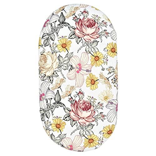 Hzb821zhup Bebé Impresión Cuna Sábana De Enfermería Cambiador Cubierta Adecuada Para Impresión De Varios Tamaños Cubierta Elástica Extraíble Flores