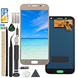 RongZy para Samsung Galaxy J5 2017 /J5 Pro J530 J530M J530F LCD+Pantalla Táctil Digitalizador Asamblea Reemplazo +Reparación Herramientas con Pegamento B7000(INCELL Dorado)