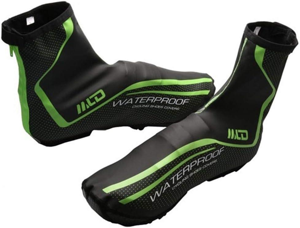 1 par de fundas para zapatos de ciclismo, fundas para zapatos de bicicleta, impermeables, calentadores, cubrebotas de ciclismo, para hombres y mujeres, botines de bicicleta de montaña de carretera
