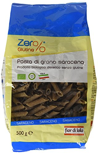 Zer% Glutine Penne di Grano Saraceno - 3 pezzi da 500 g [1500 g], Senza glutine