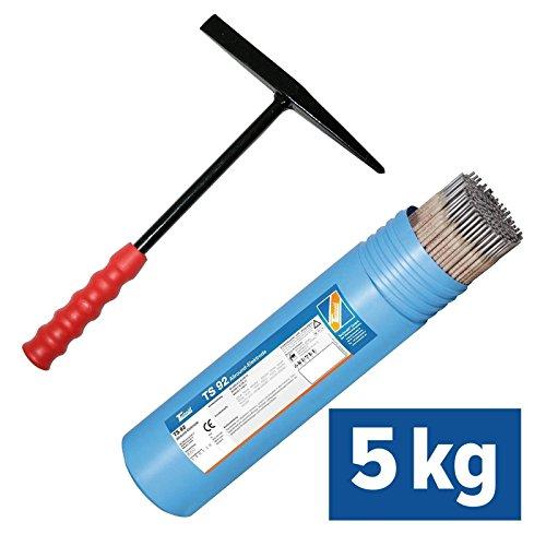 5kg TECHNOLIT TS 92 Allround-Elektroden inkl. Schlackenhammer für Profis, Größe:2.5 x 350 mm