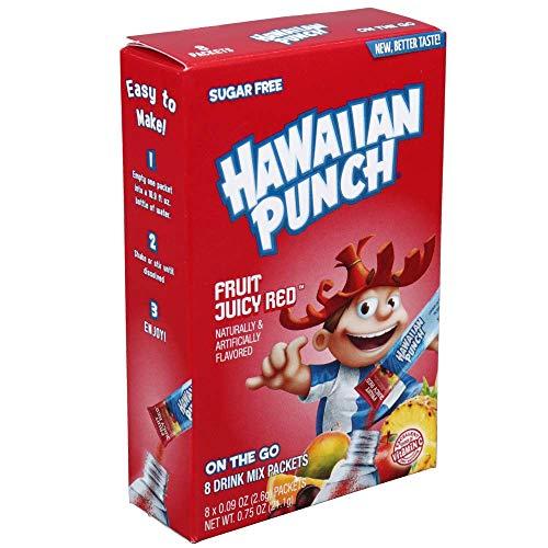 Hawaiian Punch, Sugar Free, Fruit Juicy Red, Singles to Go 8 Packets Per Box (Pack of 4) by Hawaiian Punch [Foods] by Hawaiian Punch