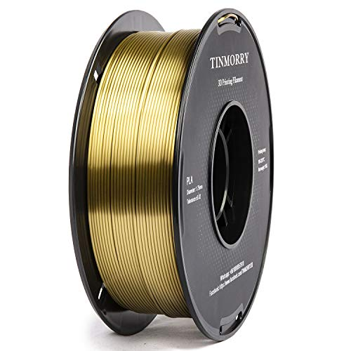 Filament 1.75 PLA, TINMORRY PLA Filament 1.75 mm, Filament-3D-Druckmaterialien, 1 KG 1 Spool, Silk Bronze