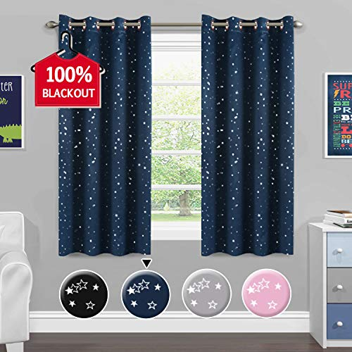 Full Blackout Curtains for Bedroom - Thermal Insulated Nursery Essential Starry Night Sleep