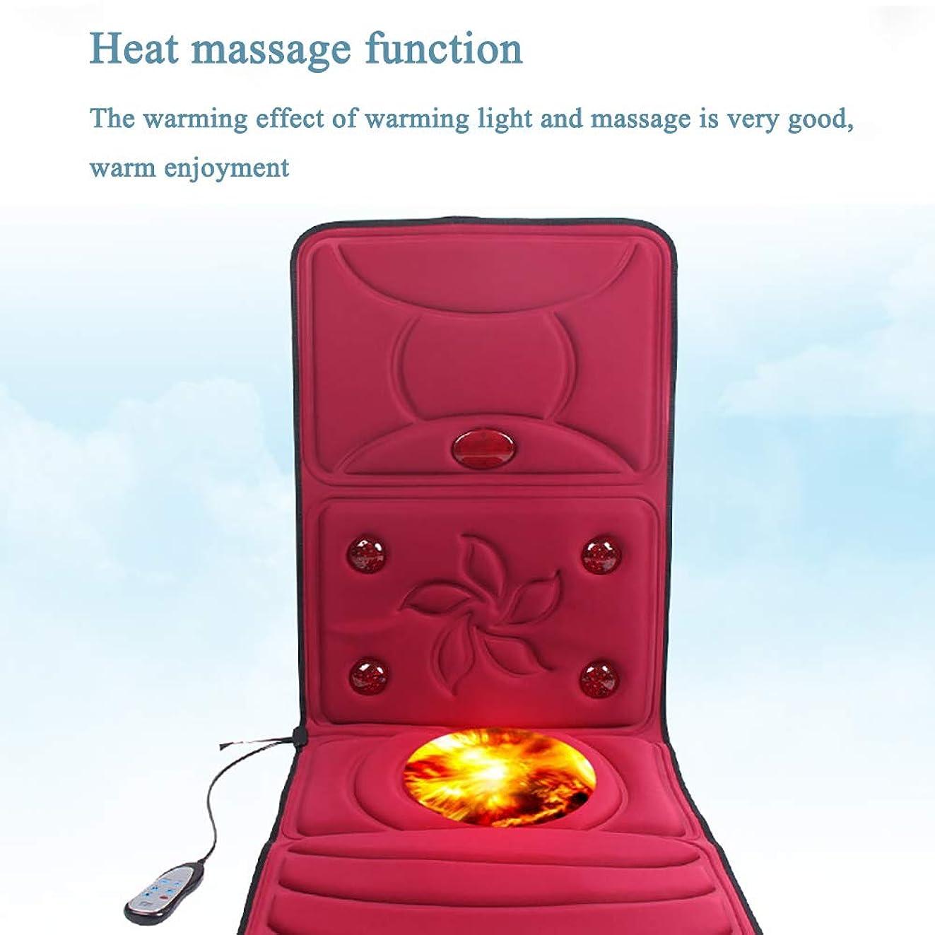 未亡人会う寝室子宮頸部マッサージャー、多機能家庭用電気マッサージマットレスカーペットフルボディ加熱マッサージマットレスマットの傾くための電気マッサージクッション