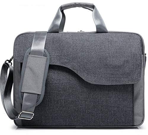 Laptop Bag 15.6 Inch Travel Business School Briefcase Shoulder Messenger Bag Fit for 14-15.6 HP Lenovo Asus Acer Dell MacBook MSI Samsung LG Toshiba Gigabyte Aero Notebook Chromebook (Grey, 15.6)