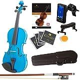 blue violins with case