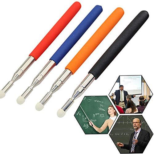 4 piezas Punteros de Enseñanza, Puntero Telescópico Extensible, Puntero telescópico para profesores, Punteros Retráctiles, para Maestros, Entrenador, Presentador