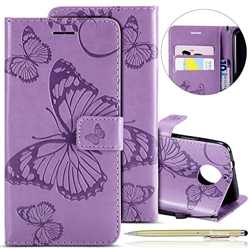 Learn More About Herbests Compatible with MOTO G5S Plus Wallet case Butterfly Pattern Premium Eelega...