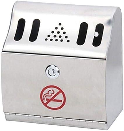 Botes de Basura//Basurero Reciclaje Montado en la pared exterior Cenicero humo del cigarrillo cenicero de acero galvanizado Bin Pub del club de humo Extintor Polo Columna de fumadores Basurero de Cocin