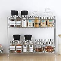 Goods Online Stainless Steel 2-Tier Kitchen Rack/Spice Shelf/Kitchen/Pantry Storage Organizer