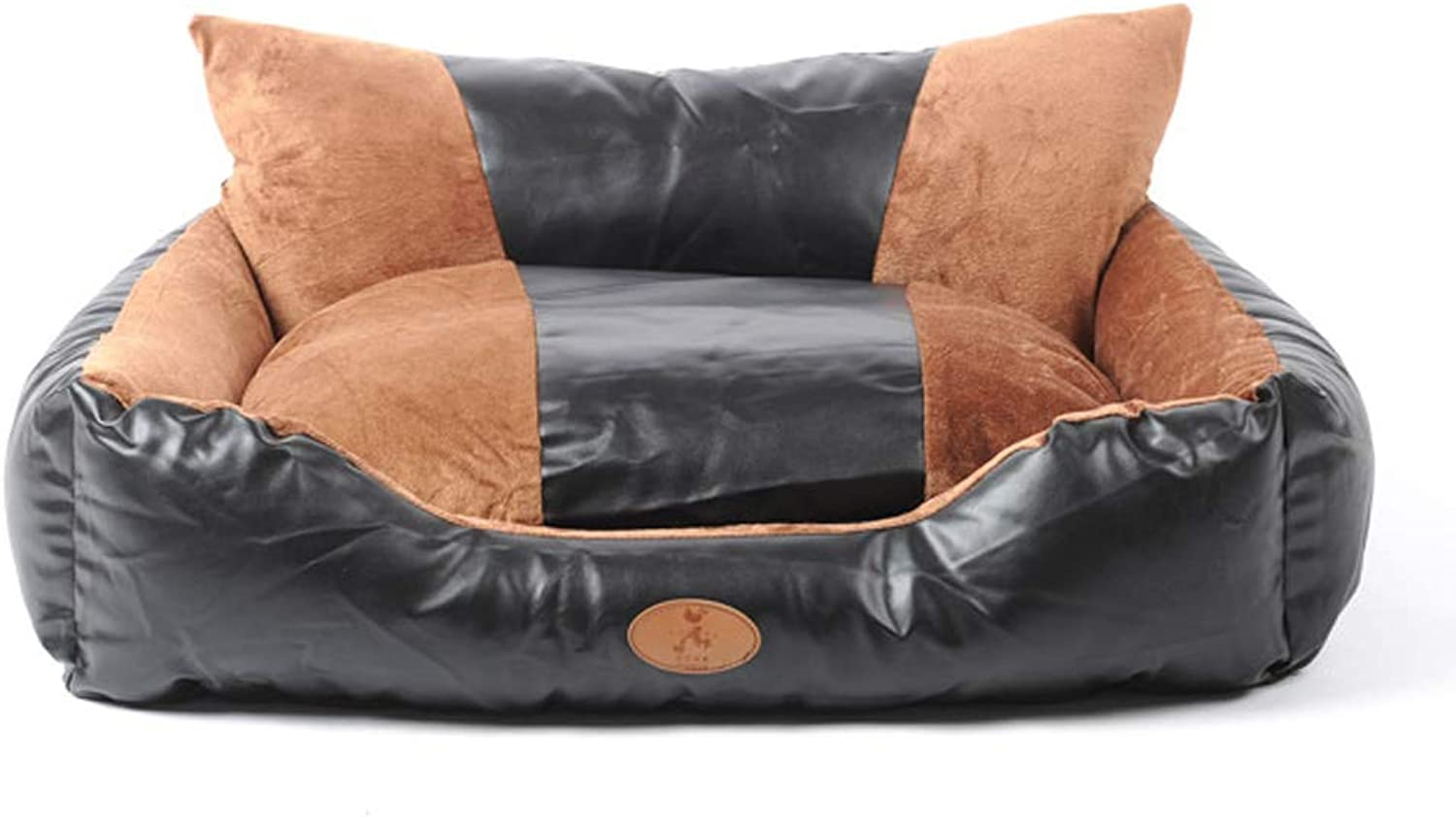 HQSB Pet Bed ,Deluxe Sofa Style Soft Washable Dogt Bed, Cat Bed, Basket, Removable Cushion with PU Skin (Size   S)