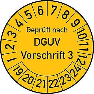 Pr/üfplakette Gepr/üft nach DGUV 3 mit Firmenname 2020-2025 3cm Rund Blau Individuell Wunschtext Gr/ö/ße 1.000 Stk