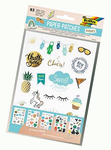 folia 11792 - Paper Patches Nobles, DIN A5, 5 Blatt inklusive 300 3D Klebepads - Stanzteile aus Karton zum Verzieren